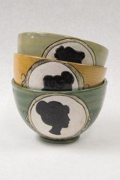 Silhouette Bowls   Not Regency-but Regency Style DIY inspiring