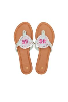 776ae80d0 Lilly Inspired Lobster Perfectly Preppy Monogram Sandals by  FancyFrogBoutique on Etsy