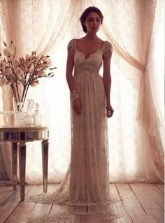 Beformal.com.au SUPPLIES Best Selller Cheap Backless Beach Beads Capped Sleeves Vintage Wedding Dresses Beach Wedding Dresses