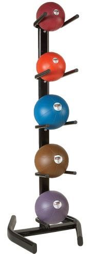 PB Extreme 5-Ball Rack can hold up to 5 medicine balls.