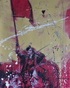 By Guy Denning  #mai68 #guy_denning #brugier_rigail_galerie #paris #exposition #urbanart Mai 68, By, Paris, Painting, Instagram, Painting Art, Paintings, Painted Canvas