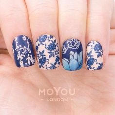 Don't forget to grab your Winter bloom bundle! ❄    Product Used: Suki 04/05, Pro 08 (XL 10) & Flower Power 05 (06) // Nail Polishes: Midnight Madness, Cafe au Lait, & Deep Ocean.