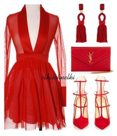 A fashion look from February 2016 featuring Christian Louboutin pumps, Yves Saint Laurent clutches and Oscar de la Renta earrings. Browse and shop related look… Black Women Fashion, Look Fashion, Trendy Fashion, Womens Fashion, Fashion Art, Cheap Fashion, Fashion 2017, Ladies Fashion, Fashion Trends