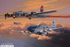 North american p 51d mustang 172 wwl wwll pinterest b 17g 2107027 is depicted limping home to bassingbourn with the starboard outer propeller feathered following a raid during the summer of 1944 fandeluxe Gallery