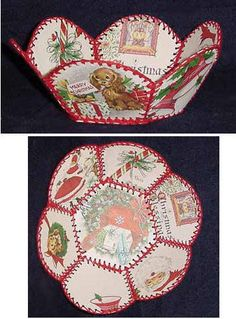 217 Best Recycled Christmas Cards Images Embroidery Stitches