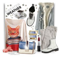 """""""Sweater Weather"""" by octobermaze ❤ liked on Polyvore featuring Wrap, Valentino, MAC Cosmetics and Estée Lauder"""