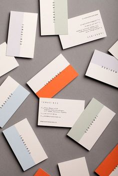 color block buisness cards.