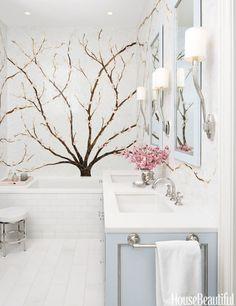 Floral Mural  - HouseBeautiful.com