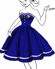 Rockabilly retro Anchor Dress