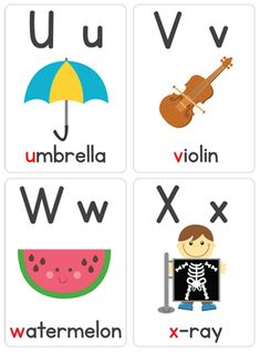 """Our """"Alphabet Flash Cards"""" are a great learning tool for your children to learn the letters of the alphabet. You will receive 26 printable alphabet cards. Alphabet Flash Cards Printable, Alphabet Wall Cards, Learning English For Kids, Abc For Kids, Make Flash Cards, Ingles Kids, Flashcards For Toddlers, Abc Activities, Preschool Writing"""