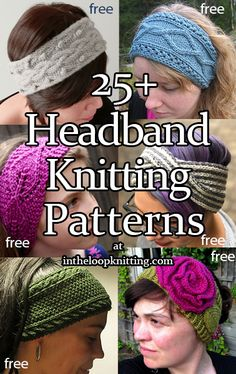 Knitted Headband Free Pattern, Baby Cardigan Knitting Pattern Free, Free Knitting, Headband Crochet, Knitting Patterns For Dogs, Knit Patterns, Knitting For Beginners, Crochet Chart, Free Crochet