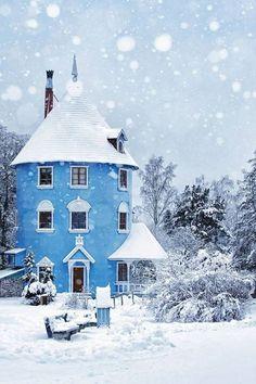 """specksofglitterandgold: """" Winter in Finland on We Heart It. """""""