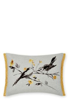 Buy Jersey Painted Birds Cushion online today at Next: Israel