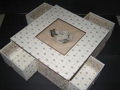 Cartonnage passion: La boîte aux quatre tiroirs