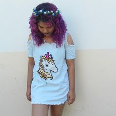 Eu Crio Moda: Meu look: Vestido Unicórnio
