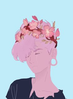 based on a drawing by asterein on tumblr, lars from steven universe su fanart fan art ((by lowqualityqueer on pinterest))