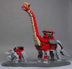 Shawn Snyder - Dinos_main - Based on the Dinotopia book series by James Gurney. These dinosaurs were part of a collaborative build by ArchLUG and were first displayed at BrickCon Lego Jurassic World, Lego Mechs, Lego Bionicle, Lego Dinosaurus, Legos, Lego Dragon, Lego Fire, Lego Sculptures, Lego Worlds