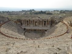 A theatre for 12,000 spectators built by the Romans in the 2nd century: Click here to enlarge