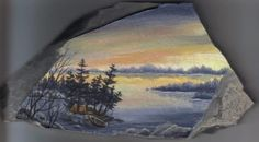 Painting on a rock by Arteestique on DeviantArt