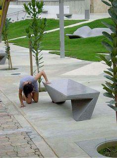 #bancas #moviliario #urbano #inovador #contemporaneo #descanso