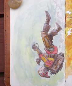Sketchbooks and Journals= Idea banks: http://rndm.us/z7  # # #watercolor #jetpack #drawdaily #characterdesign #childrensbooks #kidlitart #flying #fallingwithstyle #falling #moleskine #sketchbook #sketch