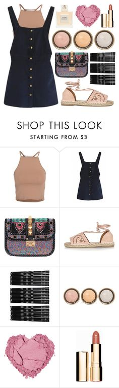 """""""What do we do now?"""" by shanelala ❤ liked on Polyvore featuring NLY Trend, Valentino, River Island, Monki, By Terry, Balmain, Clarins, women's clothing, women and female"""
