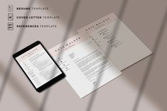Professional Resume Template. Three Page Resume Template for Sales Assistant. Customizable CV Layout for Word and Pages | Eirify Cover Letter Template, Cover Letter Format, Medical Assistant Resume, Administrative Assistant Resume, Resume References, References Page, Modern Resume Template, Creative Resume Templates, Creative Cv