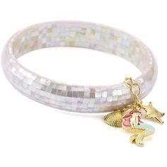"Disney ""Little Mermaid"" Multi-Charm Bracelet ($15) ❤ liked on Polyvore featuring jewelry, bracelets, disney jewelry, disney jewellery, disney and charm bracelet"