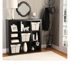 Bookshelf Display Case Storage 9 Cubed Shelves Spacesaver Wall Organizer BLACK #BH #Modern