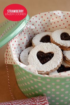 Sweet Strawberry Linzer Cookies Recipe