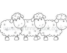 Baby sheep lamb trio digi stamp. Cute outline drawing for cardmaking and paper crafts. - Edit Listing - Etsy
