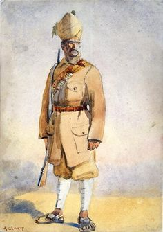 Soldier of the Khyber Rifles, illustration for 'Armies of India' by Major G.F. MacMunn, published in 1911, 1908 Wall Art & Canvas Prints by Alfred Crowdy Lovett