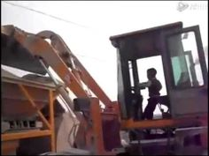 Nepal kid(5 year) driving a Bulldozer