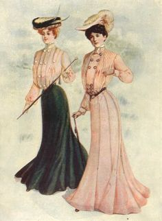 1903 skirts and shirtwaists for daytime