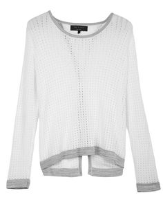 rag & bone Official Store, Arianna Pullover, white fl, Womens : Ready to Wear : Sweaters : Cotton, W242612KK