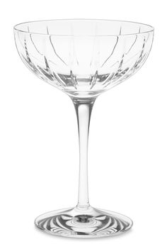 Holding a Champagne coupe is like slipping into a Manolo — it instantly makes you feel sexy. Though originally used for French bubbly, they're also suited for a Manhattan.