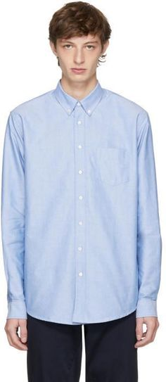 Schnaydermans Blue Oxford One Shirt