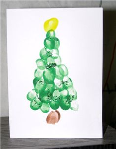 Christmas Finger Paint - Tree