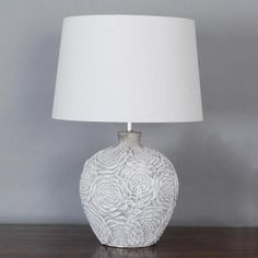 Madrid Stamped Urn Table Lamp | Dunelm