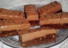 Csokihabos diós szelet