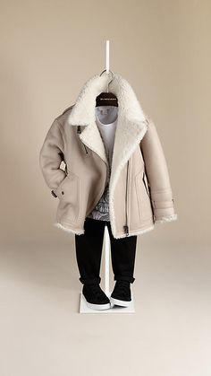 Shearling Aviator Jacket | Burberry - $1,595  One can dream. (Even though this is totally unnecessary and impractical.)