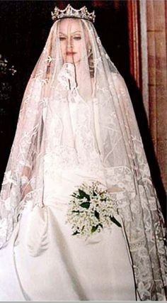 Madonna & Guy Ritchie Wedding | gown by Stella McCartney rare picture