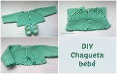 Con hilos, lanas y botones: DIY cómo hacer una chaqueta a punto bobo para bebé (patrón gratis)