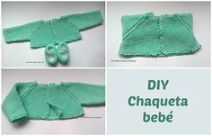 Con hilos, lanas y botones: DIY cómo hacer una chaqueta a punto bobo para bebé