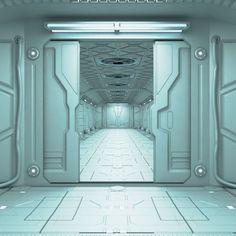 Sci-Fi corridor | 3D model