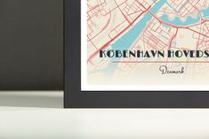 Now available in our store: Framed Map Poster... Check it out here! http://shop.mapprints.co/products/framed-map-poster-of-copenhagen-denmark-diner-retro-copenhagen-map-art?utm_campaign=social_autopilot&utm_source=pin&utm_medium=pin