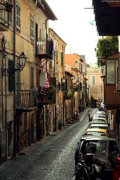 Pretty Alley in Italy. Castello Gandalfo