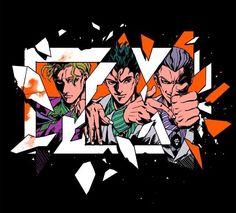 Kira and his phases Bizarre Art, Jojo Bizarre, Manga Anime, Yoshikage Kira, Simple Anime, Jojo Parts, Killer Queen, Jojo Bizzare Adventure, Easy Drawings
