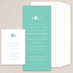 Seaside Splendor Wedding Invitation | Seashell | #exclusivelyweddings