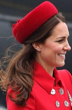 Model Traveler from Kate Middleton's Best Hair Moments  Once again Middleton shows she has mastered the art of hat hair.